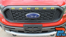Ford Ranger Grill Letter Decals RANGER GRILL LETTERS 2019 2020 2021