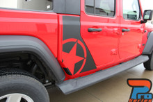 OMEGA SIDES Jeep Gladiator Side Door Star Decals Vinyl Graphics Stripe Kit for 2020-2021