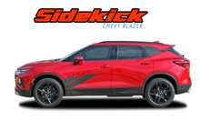 SIDEKICK : 2019-2020 Chevy Blazer Side Body Stripes Fender to Door Decals Accent Vinyl Graphics Kit