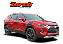 TORCH : 2019-2021 Chevy Blazer Fender to Hood Stripes Decals Accent Vinyl Graphics Kit