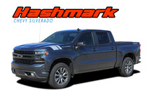 1500 HASHMARKS : 2019 2020 Chevy Silverado Hood Decals Fender Stripes Vinyl Graphic Kit (VGP-6880)
