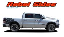 REB SIDES : 2019, 2020, 2021 Dodge Ram Rebel Side Bed Decals 1500 Body Vinyl Graphics Stripes Kit (VGP-6940)