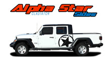 ALPHA STAR SIDES : 2020 Jeep Gladiator Side Body Star Vinyl Graphics Decal Stripe Kit (VGP-7009)
