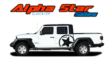 ALPHA STAR SIDES : 2020 2021 Jeep Gladiator Side Body Star Vinyl Graphics Decal Stripe Kit (VGP-7009)