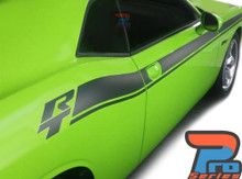 Side of Green 2020 Dodge Challenger Side RT Stripes DUEL 15 Shaker 2015-2020