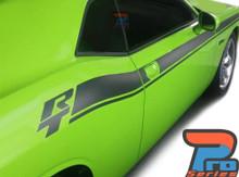 Side of Green 2020 Dodge Challenger Side RT Stripes DUEL 15 Shaker 2015-2020