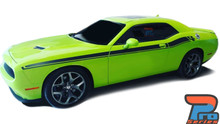 Side of Green 2018 Dodge Challenger Stripes DUEL 15 2015-2021