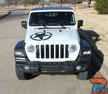 Front Hood View of Jeep Gladiator featuring LEGEND HOOD KIT : 2020-2021 Jeep Gladiator Hood Decals Package