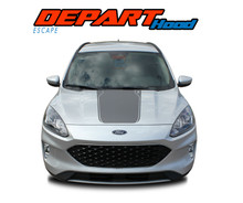 DEPART HOOD : 2020-2021 Ford Escape Center Hood Vinyl Graphics Decal Stripe Kit