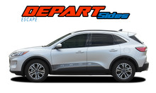 DEPART SIDES : 2020-2021 Ford Escape Lower Door Stripes Rocker Panel Decals Vinyl Graphics Kit