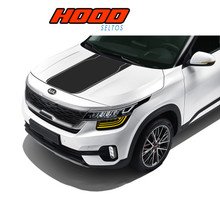 SELTOS HOOD : 2020 Kia Seltos Hood Decal Blackout Vinyl Graphics Stripe Kit