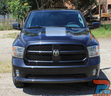 Center Dodge 1500 Ram Hood Stripes 2009-2018 and 2019-2021 Ram Classic