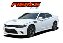 FIERCE : 2015-2020 Dodge Charger Side Door Stripes and Body Vinyl Graphic Decals Stripe Kit