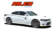 RILED : 2015-2021 Dodge Charger Side Door Stripes and Rear Body Quarter Panel Vinyl Graphic Decals Stripe Kit