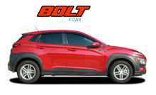 BOLT : 2018-2021 Hyundai Kona Upper Body Door Accent Striping Vinyl Graphic Stripes Decal Kit (VGP-7267)