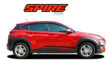 SPIRE : 2018-2021 Hyundai Kona Lower Rocker Panel Door Accent Striping Vinyl Graphic Stripes Decal Kit (VGP-7253)