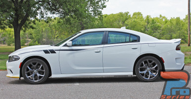 White 2015-2021 Dodge Charger Side Body Graphics FIERCE Premium Vinyl Graphic Products
