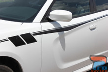 White 2020 Dodge Charger Side Body Graphics FIERCE 2015-2021
