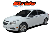 STRIDE : 2008-2016 Chevy Cruze Upper Body Door Accent Striping Vinyl Graphics Decals Kit (VGP-1634)