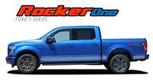 F-150 ROCKER ONE : 2021 Ford F-150 Lower Door Rocker Panel Stripes Vinyl Graphic Decals Kit (VGP-3524-2021)