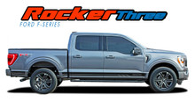 2021 F-150 ROCKER THREE : 2021 Ford F-150 Lower Door Rocker Panel Stripes Vinyl Graphic Decals Kit (VGP-7472)