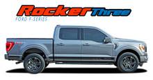 2021 F-150 ROCKER THREE : 2021 Ford F-150 Lower Door Rocker Panel Stripes Vinyl Graphic Decals Kit (VGP-7472)