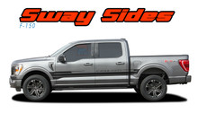 2021 F-150 SWAY : 2021 Ford F-150 Side Door Body Stripes Vinyl Graphic Decals Kit (VGP-7474)