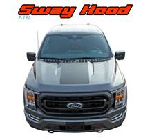 2021 F-150 SWAY HOOD : 2021 Ford F-150 Hood Stripes Vinyl Graphic Decals Kit (VGP-7473)