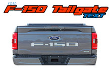 2021 F-150 SWAY TEXT : 2021 Ford F-150 Tailgate Text Letters Decals Stripes Vinyl Graphic Decal Kit (VGP-7476)