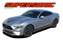 SUPERSONIC (DIGITAL) : 2018 2019 2020 2021 Ford Mustang Mach 1 Stripes Center Wide Racing Rally Stripes Vinyl Graphics Kit