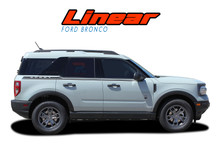 LINEAR : 2021 2022 Ford Bronco Sport Side Decals Door Stripes Body Vinyl Graphics Kit