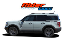 RIDER : 2021 2022 Ford Bronco Sport Side Stripes Door Decals Body Vinyl Graphics Kit