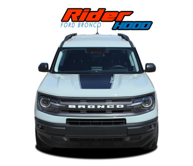 RIDER HOOD : 2021 2022 Ford Bronco Sport Hood Stripes Hood Decals Body Vinyl Graphics Kit