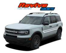REVIVE RETRO : 2021 2022 Ford Bronco Sport Side Door Decals Body Stripes Vinyl Graphics Kit