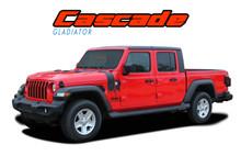 CASCADE : 2020 2021 Jeep Gladiator Body Mountain Vinyl Graphics Decal Stripe Kit