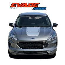 EVADE HOOD : 2020-2021 Ford Escape Center Hood Vinyl Graphics Decal Stripe Kit