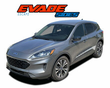 EVADE SIDES : 2020-2021 Ford Escape Lower Door Stripes Rocker Panel Decals Vinyl Graphics Kit