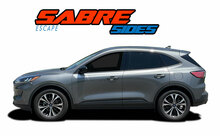 SABRE SIDES : 2020-2021 Ford Escape Lower Door Stripes Rocker Panel Decals Vinyl Graphics Kit