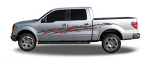 SHOOTOUT : Automotive Vinyl Graphics - Universal Fit Decal Stripes Kit - Pictured with FORD F-150 (ILL-1212)
