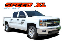 SPEED XL : 2007 2008 2009 2010 2011 2012 2013 2014 2015 2016 2017 2018 Chevy Silverado GMC Sierra Hockey Side Door Vinyl Graphic Decal Stripe Kit (VGP-2364)