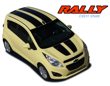SPARK RALLY : 2013 2014 2015 2016 Chevy Spark Racing Vinyl Graphic Stripe Rally Decals Kit (VGP-2221)