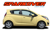 SPARKOVER : 2013 2014 2015 2016 Chevy Spark Upper Door Accent Vinyl Graphic Stripe Decals Kit (VGP-2219)