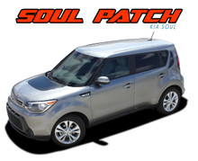 SOUL PATCH : Kia Soul Factory Style Hood Blackout and Side Accent Vinyl Graphics Decal Stripe Kit (VGP-1598)