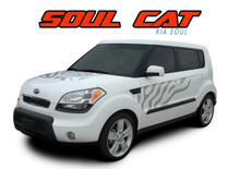 SOUL CAT : 2010 2011 2012 2013 2014 2015 2016 Kia Soul Hood Side Door Cat Paw Vinyl Graphics Decal Stripe Kit (VGP-1652)