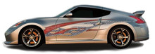 ROCK STAR : Automotive Vinyl Graphics - Universal Fit Decal Stripes Kit - Pictured with TWO DOOR SPORTS CAR (ILL-1396)