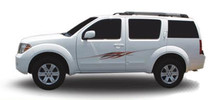 REVO : Automotive Vinyl Graphics - Universal Fit Decal Stripes Kit - Pictured with MIDSIZE CROSSOVER SUV (ILL-695696)