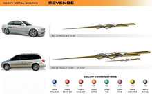 REVENGE Universal Vinyl Graphics Decorative Striping and 3D Decal Kits by Sign Tech Media, Inc. (STM-RV)