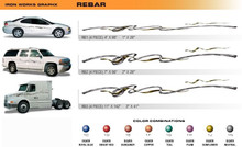 REBAR Universal Vinyl Graphics Decorative Striping and 3D Decal Kits by Sign Tech Media, Inc. (STM-RB)