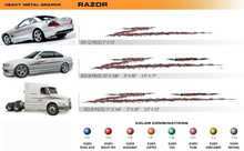 RAZOR Universal Vinyl Graphics Decorative Striping and 3D Decal Kits by Sign Tech Media, Inc. (STM-RZ)