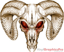 RAM SKULL : Premium Ultra High Resolution Vinyl Graphics by Speed Graphics, Inc (SPEED-RMS-10)